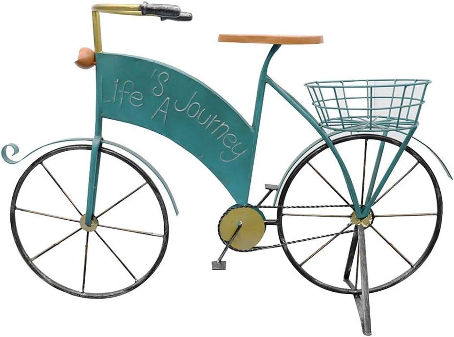 ZENGAI Estante De Maceta Maceteros Soporte Flores for Bicicletas Hierro Forjado, Estilo Retro, Decoraciones,Tienda Comestibles Garden Yard Jardinería (Color : Blue)