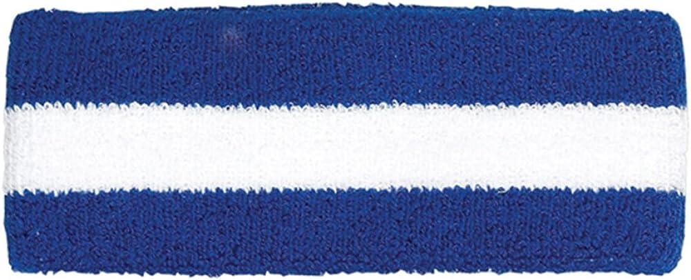 Cotton Terry Cloth Stretchy Stripe Sports Headband