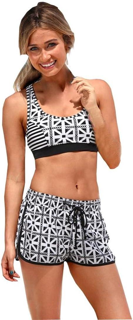 Costumi da Bagno Monokini,Bikini Set Brasiliano Swim Shorts Kword Bikini Nuovo Hot Costume da Bagno Costume Hawaiano,Donna Mare Push Up Tank Top Donna,Ragazze