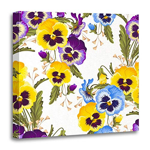 Colorful Pansy Varicolored Pansies Purple Abstract