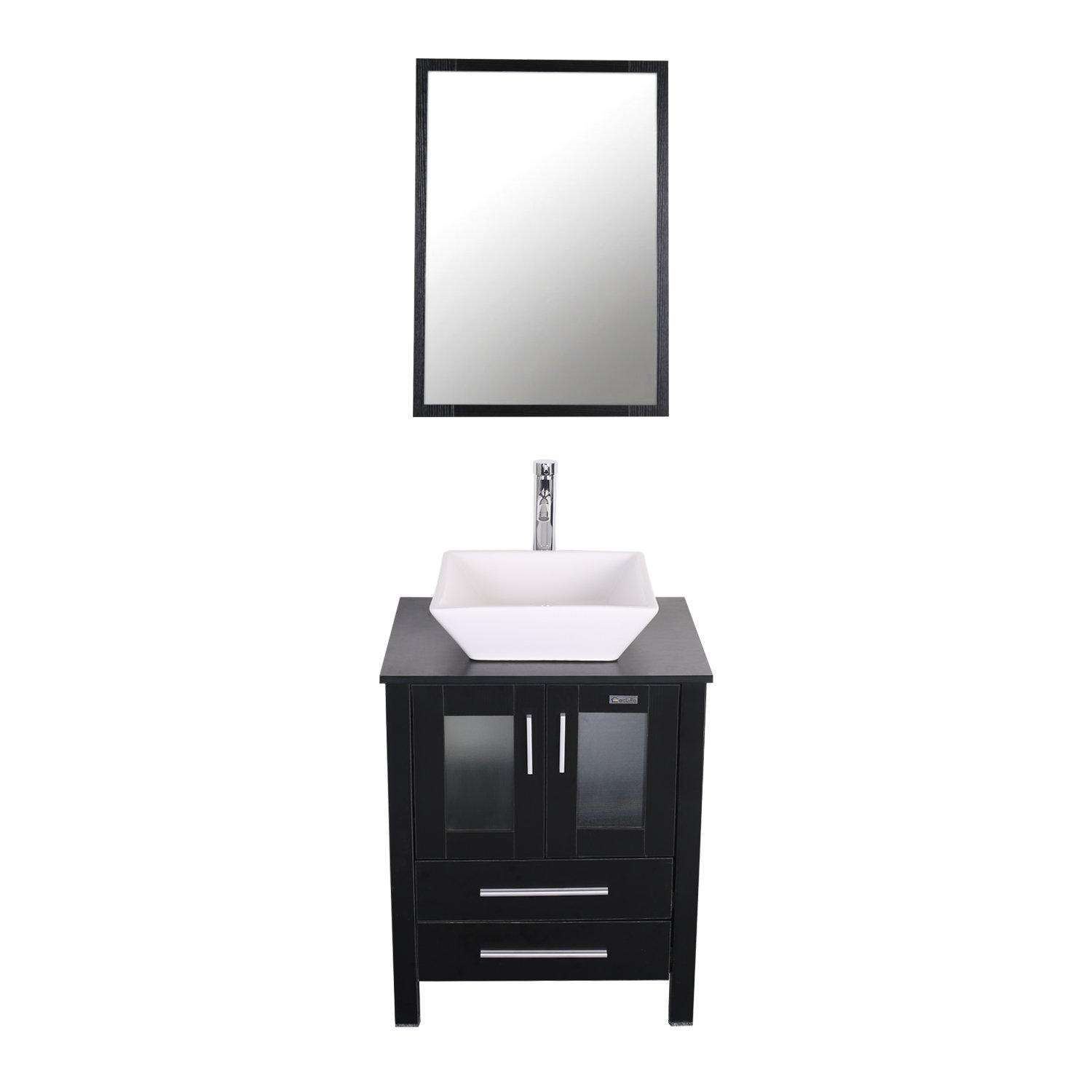 Eclife 24 inch Modern Bathroom Vanity Units Cabinet And Sink Stand