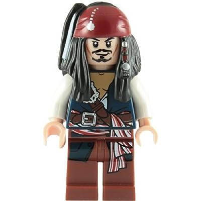 Lego Pirates Of The Caribbean: Captain Jack Sparrow Minifigure: Toys & Games