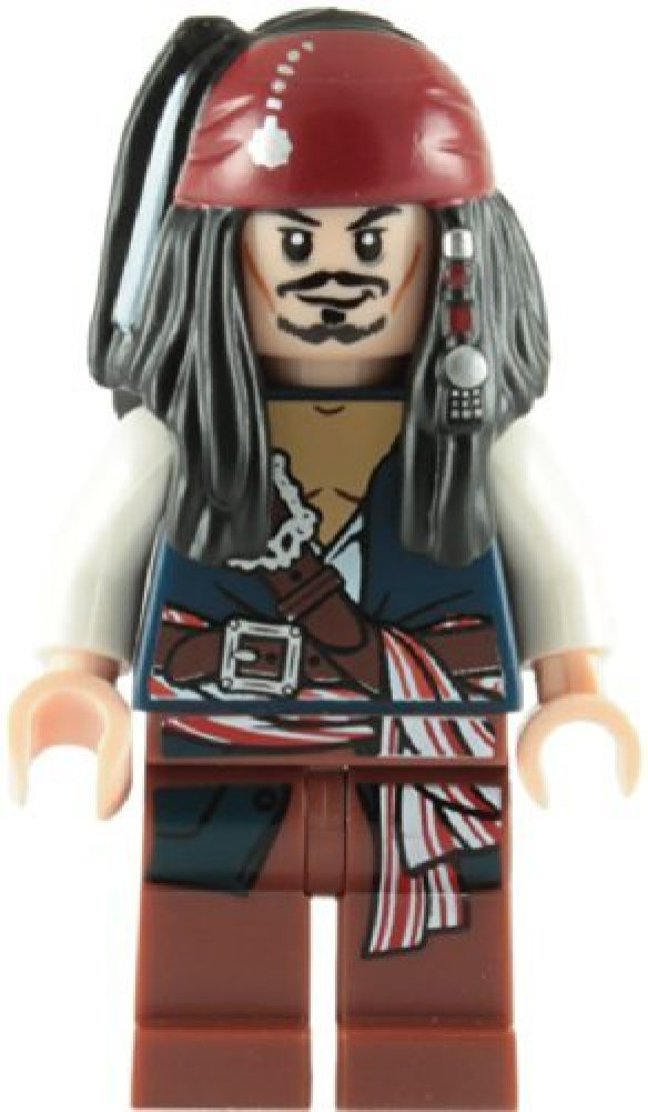 LEGO Piratas Del Caribe: Capitán Jack Sparrow Minifigura B0054J2MLW