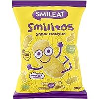 Smileat - Bolsas de Smilitos, Snack Ecológico de Maíz para Meriendas de Bebés a Partir de los 6 Meses - Pack de 15x38g…