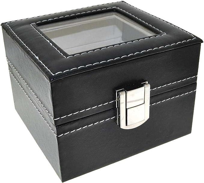Relojes Caja Piel para 2 Relojes de colección Caja Estuche de ...