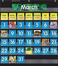 Pocket Chart Calendar Black