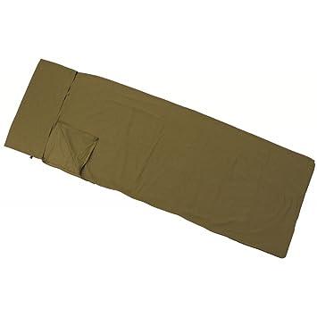 MFH - Saco de dormir (lusen 210 x 70 cm Algodón Saco de vivac camping Varios Colores, color Marrón, tamaño talla única: Amazon.es: Deportes y aire libre
