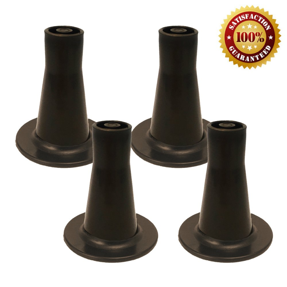 Bed Frame Feet Replacement | Tall Sturdy Cone Shaped Legs | Set of 4 | Protect Your Floor by Changing Your Bed Wheels With These Bed Frame Glide | Dark Brown | Set of 4 by Home Paradise