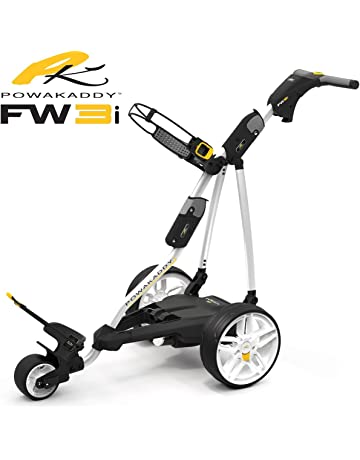 POWAKADDY CARRITO DE GOLF ELECTRICO FW3s 2018 CON BATERIA DE LITIO 18 HOYOS BLANCO