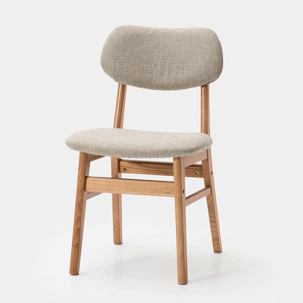 C Barstool Solid Wood Chair Creative Bar Chair Removable Fabric Chair Modern Cafe Chair