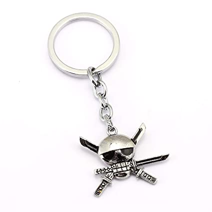 Amazon.com : Men car Key Chain ONE Piece Skull Keychain Car ...