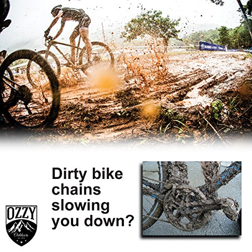 Bike Chain Cleaning Tool by Ozzy Outdoors-Our newly designed cleaner uses rotating brushes to make bicycle chain maintenance easy-BONUS GIFT with purchase by Ozzy Gear (Image #3)