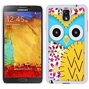 Samsung Galaxy Note 3 Owl Patch Yellow and Flowers Phone Case