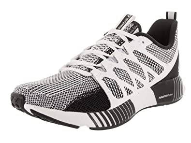 Reebok Men s Fusion Flexweave Cage White Black Coal Gry Running Shoe 7.5 Men 9fd397e67