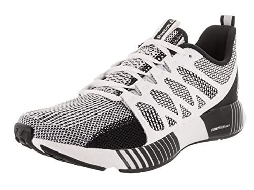 a41cfcedd9a Reebok Men s Fusion Flexweave Cage White Black Coal Gry Running Shoe 7.5 Men