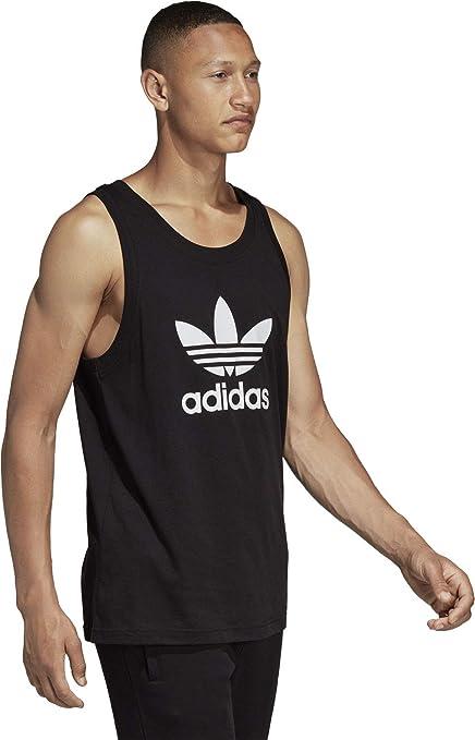 Adidas Trefoil Tank Camiseta de Tirantes, Hombre, Negro, XS