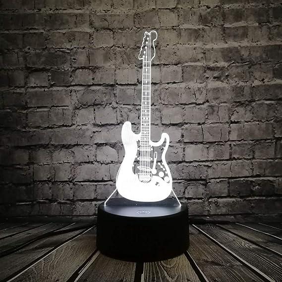 Música guitarra bajo luces iluminadas en 3d para músicos ...