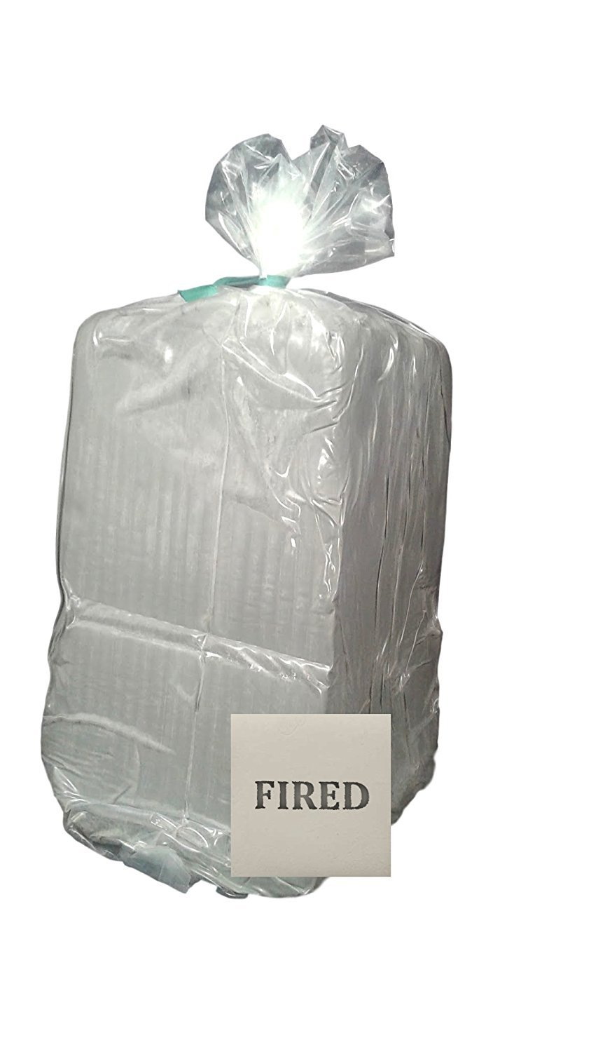 Aurora Pottery - Whiteware Clay (Lo-Fire) - EM-342 - Pottery Clay Fires White - Smooth Texture (25 Pounds) by Aurora Pottery