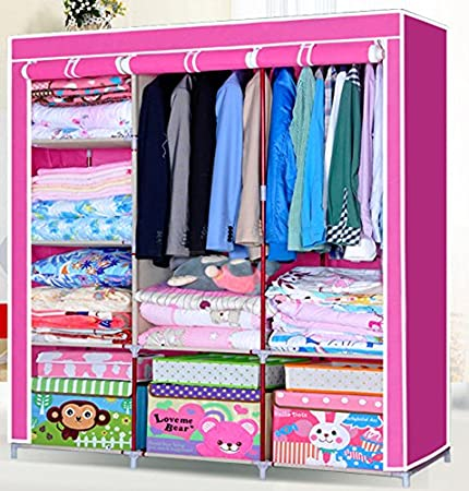 Generic New Large Simple Combination Non-woven Clothes Wardrobe Storage Cabinet Closet