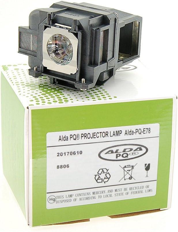 Ersatzlampe f/ür EPSON EB-X18 Projektoren Beamerlampe Lampe mit Geh/äuse Alda PQ-Premium