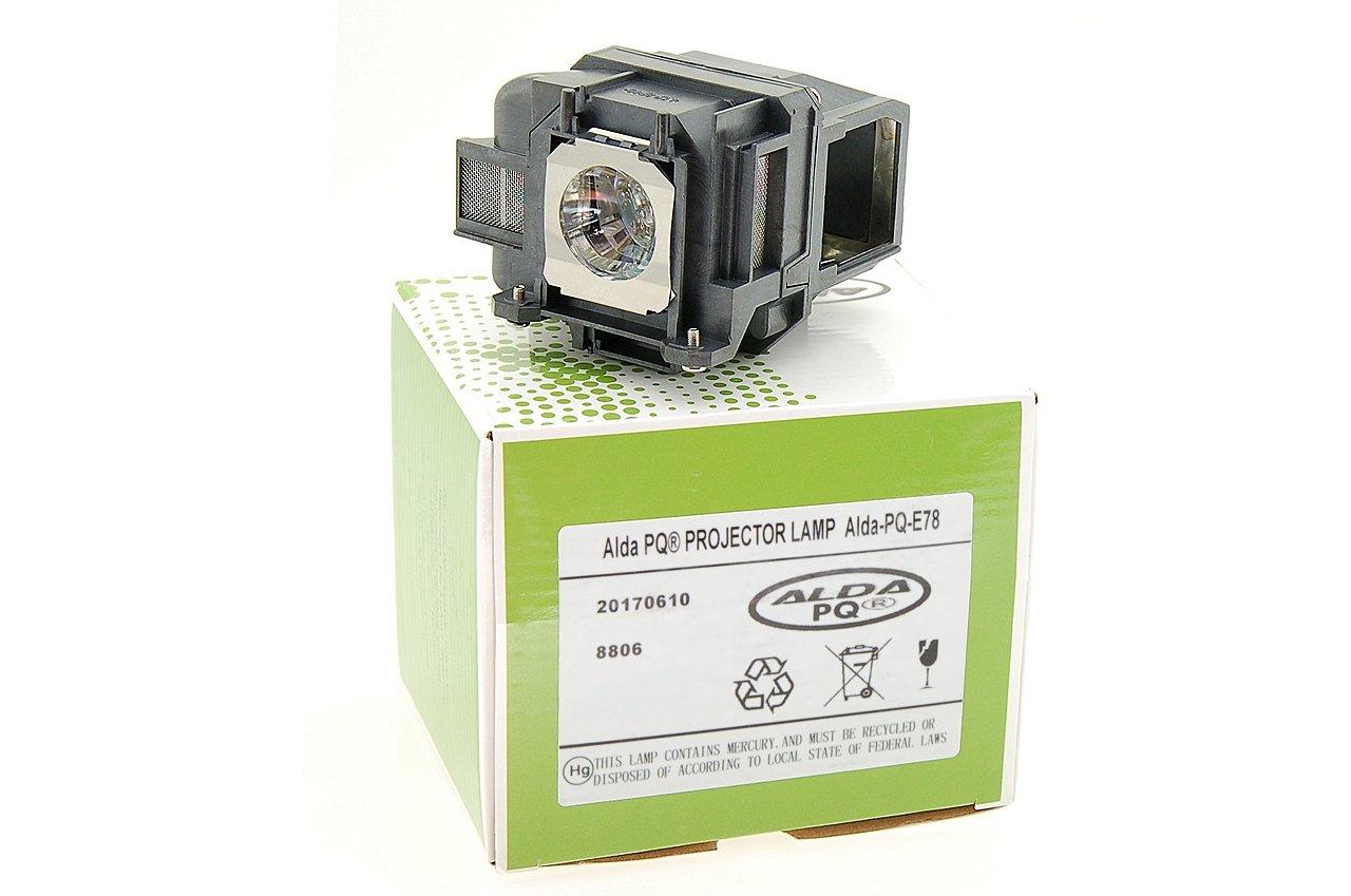 Alda PQ-Premium, Lámpara de proyector para EPSON 1262W, 1263W, EB-97, 955W, 99W, EB-940, EB-945, EB-950W, EB-955W, EB-965, EB-97, 1263W, EB-98, EB-S03, EB-S17, EB-S18 Proyectores, lámpara con Carcasa f64f5c