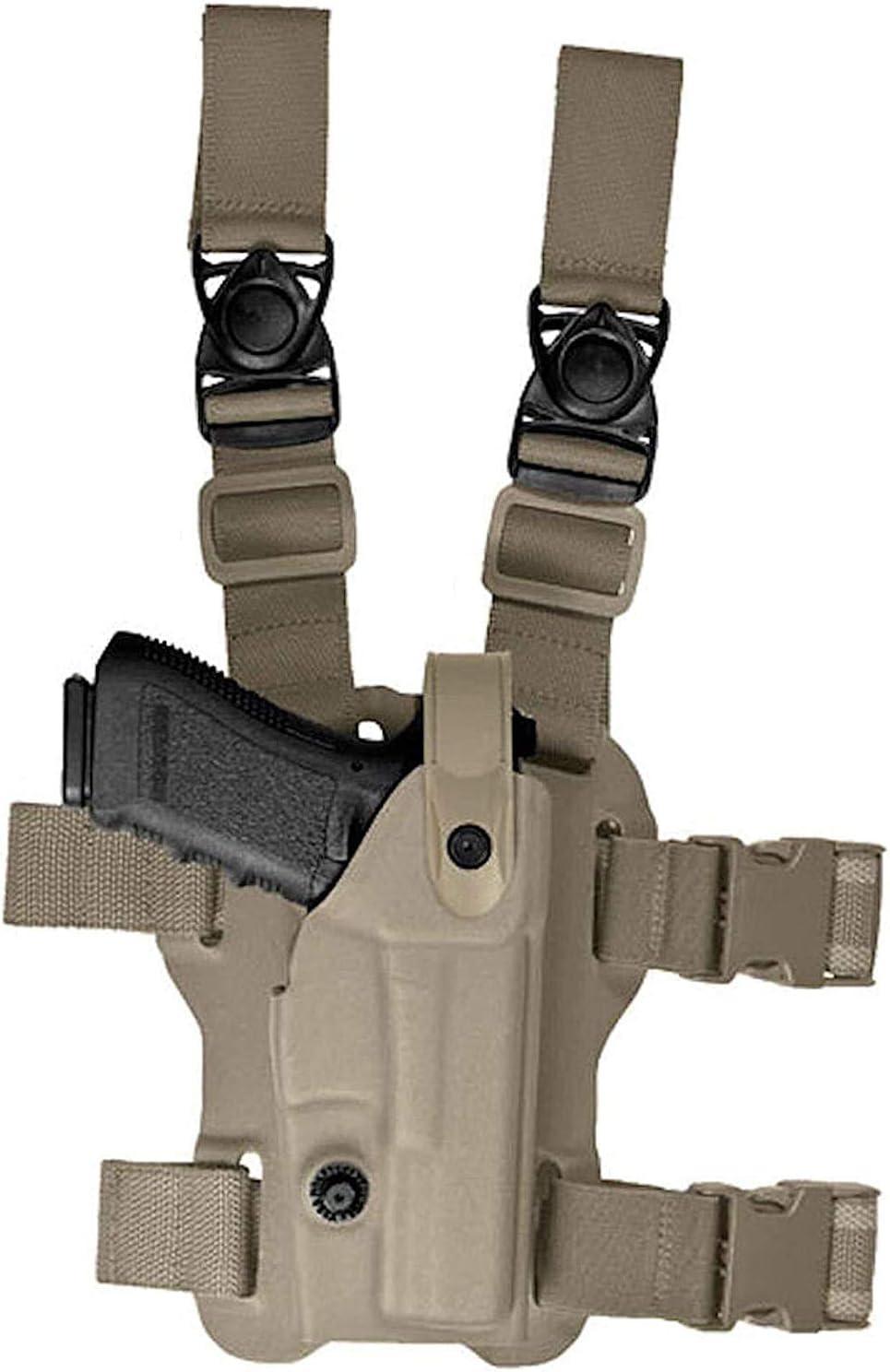Vega Holster - Funda para muslos táctica VKL 800 para Beretta 92/98 polímero Coyote Tan