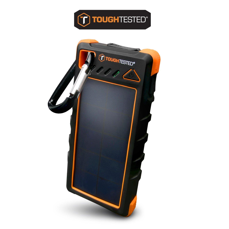 16000mAh Solar Portable Charger Powerbank With LED Flashlight - IP67 Dustproof/Shockproof/Rainproof - 280mAh High Efficiency Solar Panel Smartphone Charger