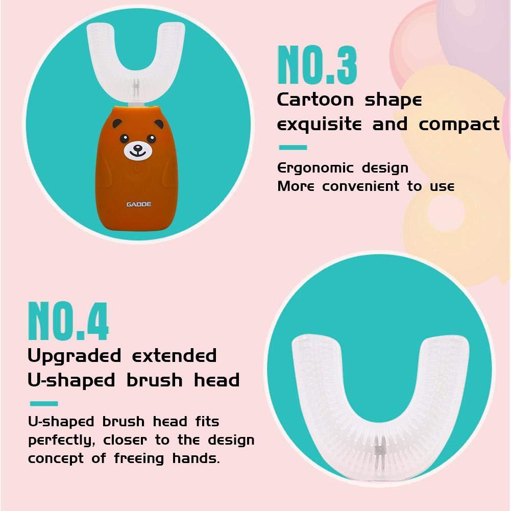 S-tubit Elektrische Zahnb/ürste Wiederaufladbare automatische Freisprecheinrichtung Zahnb/ürste Mundreiniger Werkzeuge Kinder Drahtlose Aufladung Wasserdicht 360 /° opportune