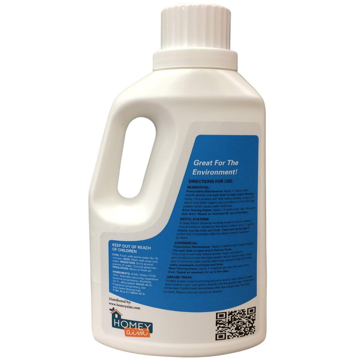 Garbage Disposal Cleaner and Deodorizer By Homey Aim - Keep Kitchen Drains and Disposals Clean without Clog - Unique Green Eco-Friendly Enzymes - Natural Scent - Safe for any Pipe and for Septic Tanks by Homey Aim (Image #2)