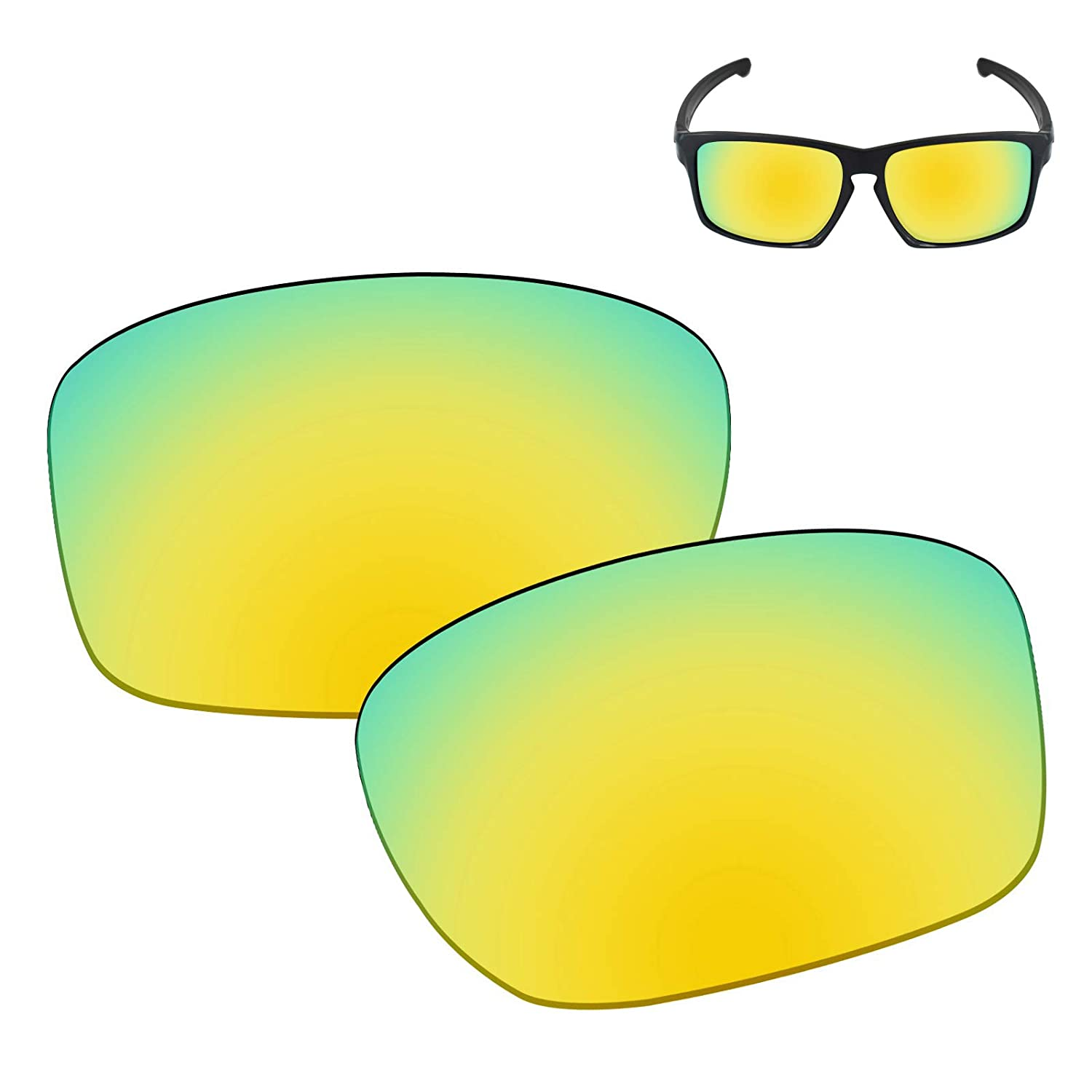 2ac7ad8423 Amazon.com  Galvanic Replacement Lenses for Oakley Sliver Sunglasses - 24k  Polarized  Clothing