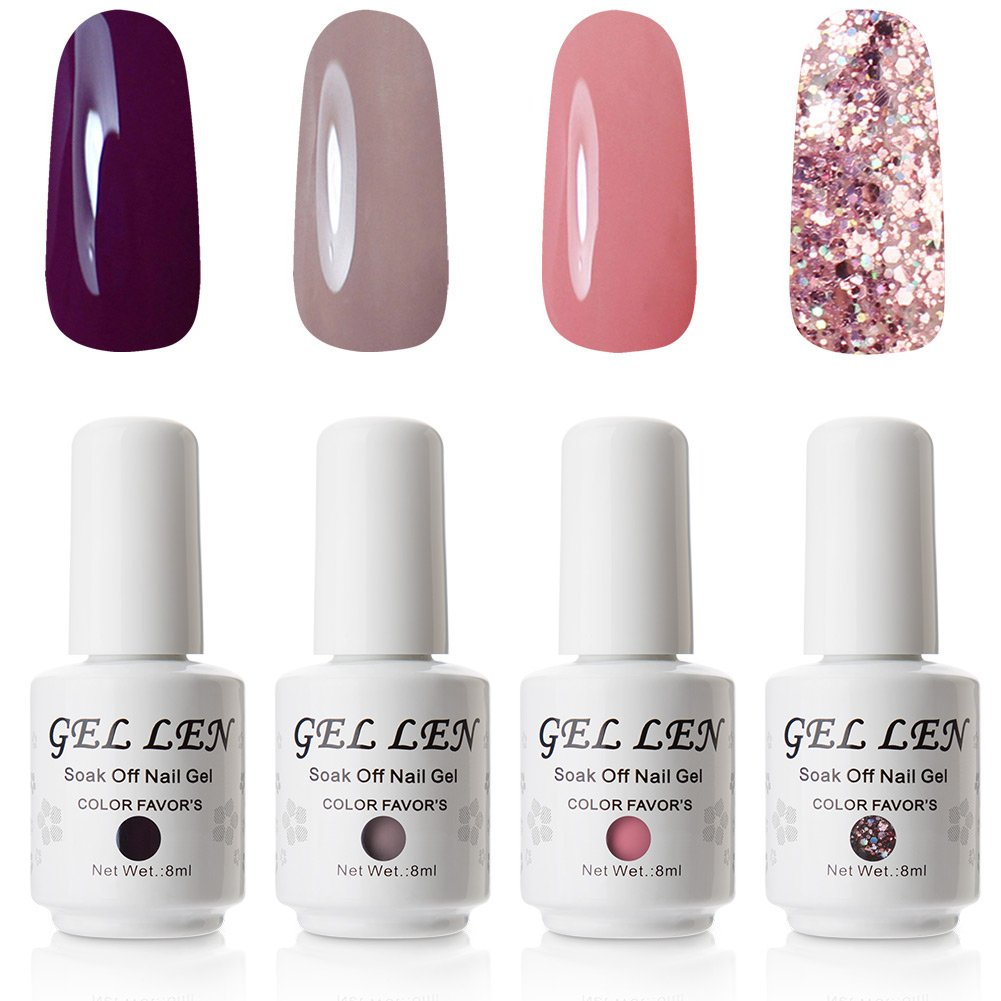 Gellen Environmental Gel Polish Set Shimmering 6 Grace Colors Nail Gel Kit