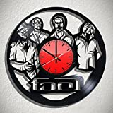 Cheap Art Vintage Tool rock band vinyl record design wall clock, Tool wall poster, Tool decal