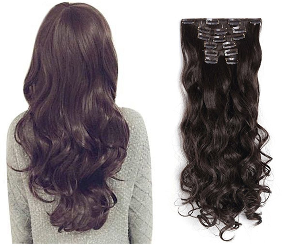 The Best 7pcs Clip In Hair Extension Placement Look Real Synthetic