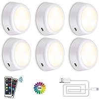 Onder Kabinet Verlichting SOLMORE Oplaadbare RGB Dimbare LED Kast Verlichting Nachtverlichting met Afstandsbediening…