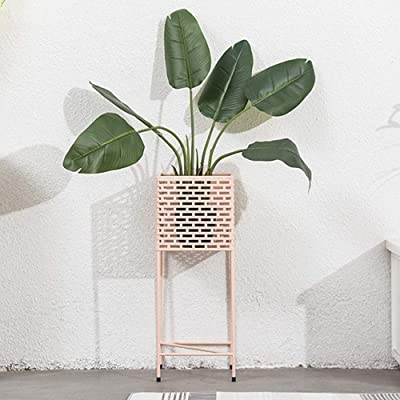 Ceramic vases Wrought Iron Multi-Functional Partition Flower Stand, Indoor Living Room Decoration Balcony Multi-Layer Trapezoidal Flower Shelf, Outdoor Hanging,vase, Patio,Wedding (Color : Pink): Home & Kitchen