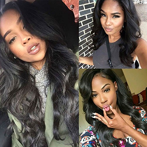 SHANGKE 28'' Long Wavy Hairstyles Brownish Black Wig Cosplay Natural Synthetic Wigs For Black Women Long Cheap Wigs For Women Wig (Cheap Long Wigs)
