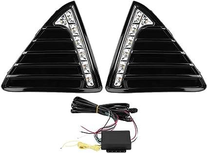 Wallfire 1 par de Luces diurnas de circulaci/ón Diurna para autom/óvil Luces LED Tipo DRL para Ford Focus MK3 12-14 Doble par