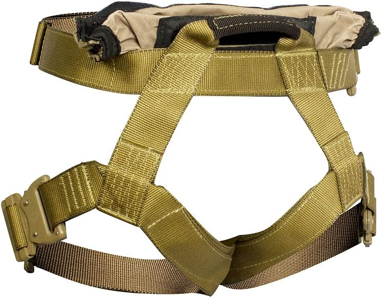 Fusion Tactical Griffin Military Police Half Body Search Rescue Harness Duty Belt 23kN 2X-Large Coyote Brown