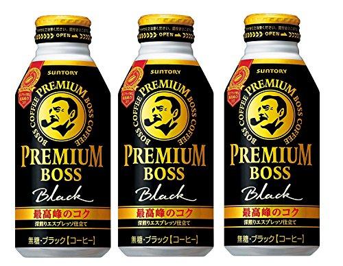 [일본 산토리 보스 캔커피 / SUNTORY BOSS COFFEE] 산토리 프리미엄 보스 블랙 390g×3개