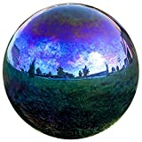 Lily's Home Glass Gazing Ball Mirror Ball Garden Ball in Rainbow - 12 inch