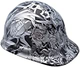 Texas America Safety Company Tattoo Cap Style Hydro Dipped Hard Hat - Silver FOR LADIES