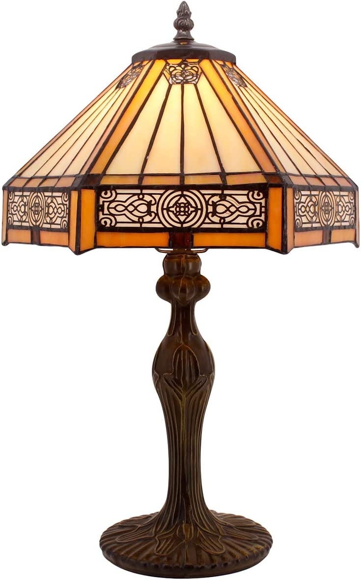 Chloe CH15107AA17-TL2 10 Wide Edith 1 Tiffany-Style 2 Light Butterfly Table Lamp, 17 x 8.75 x 8.75, Multicolor
