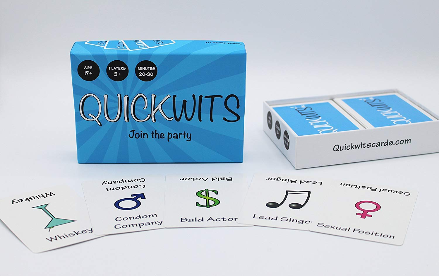 Amazon.com  Towpath Gaming Quickwits Party Card Game  Toys   Games 14c15bb693a5b