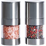 (S2) - Belugahots Premium Salt and Pepper Grinder Set, Stainless Steel Sea Salt Grinders and Pepper Mill Set with Adjustable