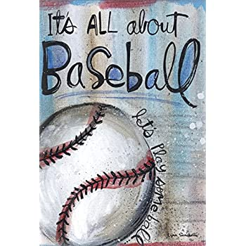 "Toland Home Garden All About Baseball Decorative Sport/Game Garden Flag, 12.5"" by 18"""