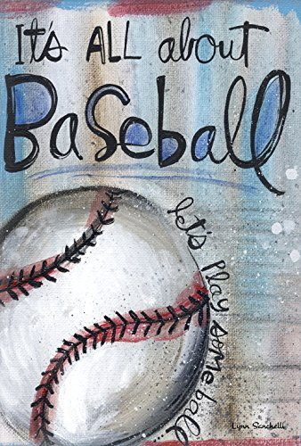 Toland Home Garden All About Baseball 12.5 x 18 Inch Decorat