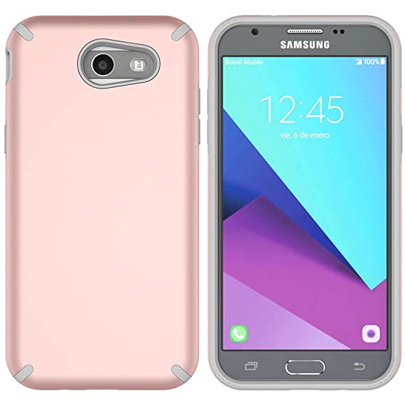 for Samsung Galaxy J3 Emerge Case, J3 2017 Case, J3 Prime Case, Express  Prime 2 Case, MagicSky Slim Corner Protection Shock Absorption Hybrid Dual