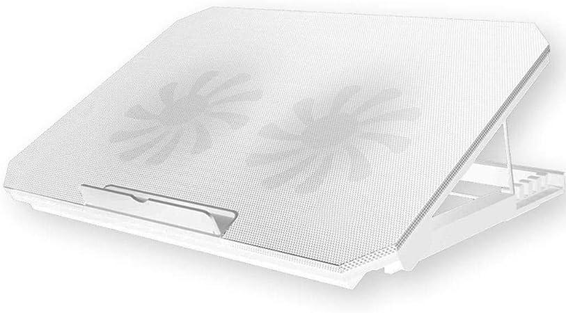 GOPG Ajustable Soporte para Portátil, Ventilado Refrigeración Ergónomico con Ventilador Ligero Soporte para Laptop Adecuado para Oficina Hogar Notebook-Blanco: Amazon.es: Hogar