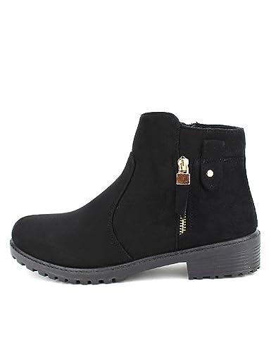 Femme CendriyonBottines Daim Noires LIANO Chaussures nOwP0k8