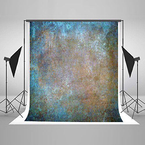 Kate Vintage Backdrop 7ft(W) x5ft(H) Microfiber Abstract Backgrounds for Photography Blue Rust Photo Props Studios